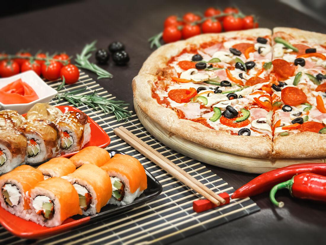 Картинки суши и пицца
